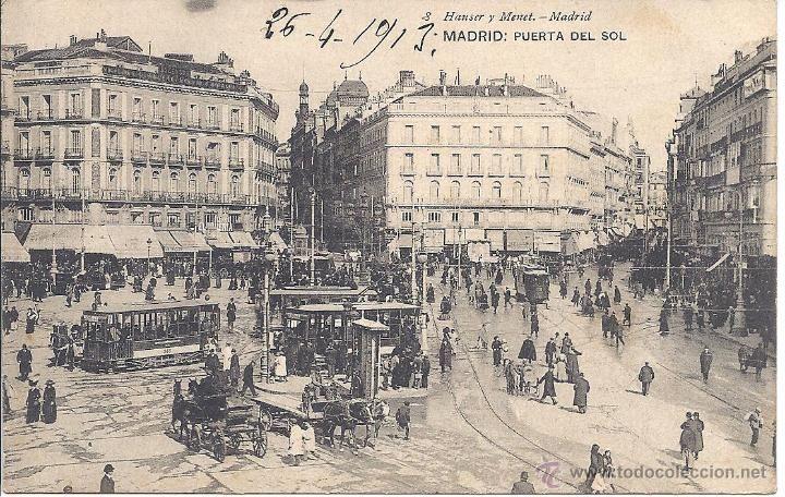MADRID 'PUERTA DEL SOL'. HAUSER Y MENET. CIRCULADA EN 1913