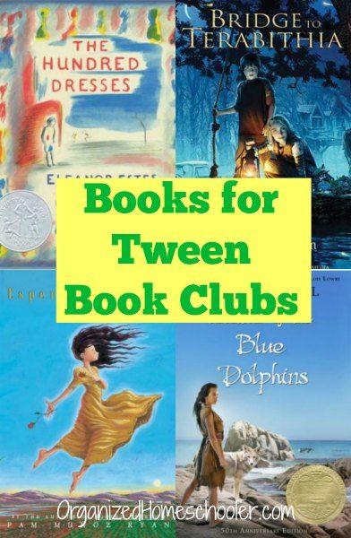 Top homeschool book club books for tweens or upper elementary readers.