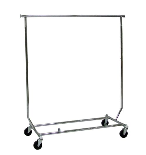 """Rolling racks offering chrome plated collapsible rolling racks, commercial grade double rail racks with great discounts for a limited period of time throughout Toronto, Canada. Our Collapsible rolling rack comes with many features such as folds flat for storage, adjustable heights, 1"""" round tubing and no tools required for assembly. For more details, please visit: https://www.rollingracks.ca"""