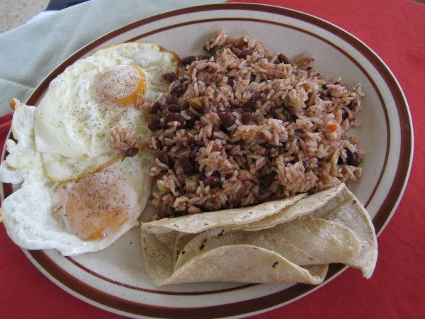 Gallo Pinto, Costa Rican Beans and Rice Doug and I had this for breakfast almost everyday in Costa Rica.