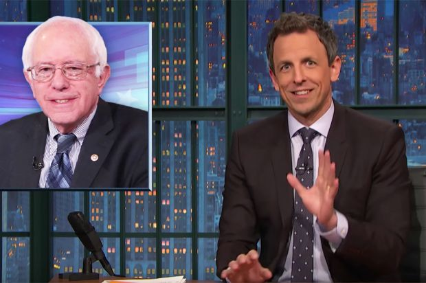 "JAN 20, 2016 Seth Meyers just explained the Bernie Sanders surge — and why the media totally missed it. Once in a while someone transcends their age and enters the Betty White Zone of support from another generation. ""That's right, it's 2008 all over again. A young handsome, charismatic challenger has entered the race,"" Meyers said with a photo of Martin O'Malley. ""And he's losing the race by 40 points to Waldorf from the Muppets."""