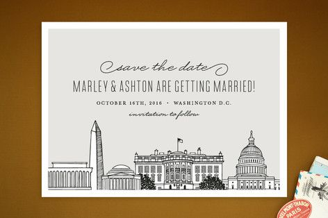 DC theme save-the-date idea  Big City - Washington DC Save The Date Cards by Hooray Creative at minted.com