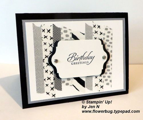 Cool Everyday Chic Washi Tape Background from Flowerbug's Inkspot