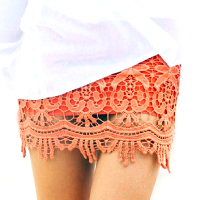 Crochet skirt: Coral Lace, Lace Overlays, Laceskirt, Crochet Skirts, Random Pin, Lace Shorts, Lace Dresses, Cute Skirts, Lace Skirts