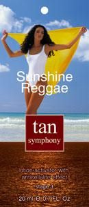 Эмульсия-активатор загара с антицеллюлитным эффектом Sunshine Reggae 3-я фаза, 20 саше по 20 мл, Tan Symphony