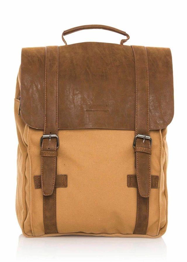 Hnědý plátěný batoh MTNG(288122) - 1