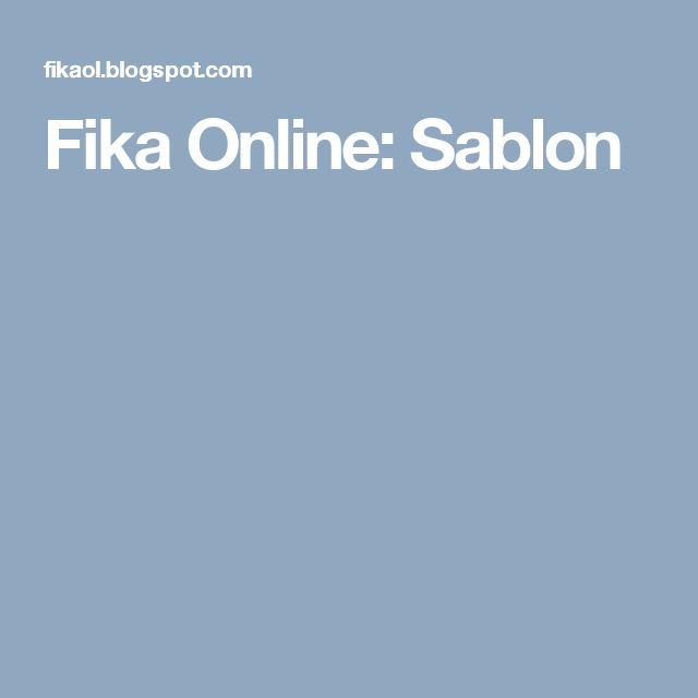 Fika Online: Sablon