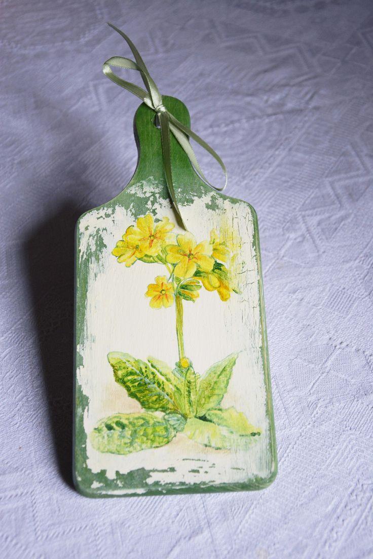 deska kuchenna - Kwiatki Pani Miłki - Srebrna Agrafka
