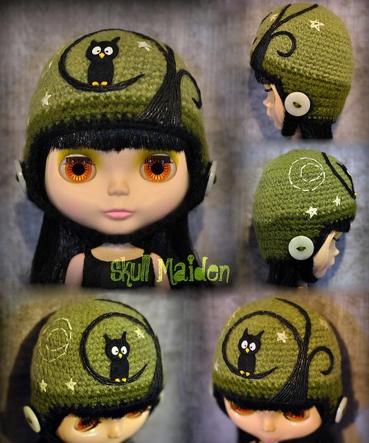 Love the owl...Made by Skull Maiden: http://www.flickr.com/photos/skullmaiden/