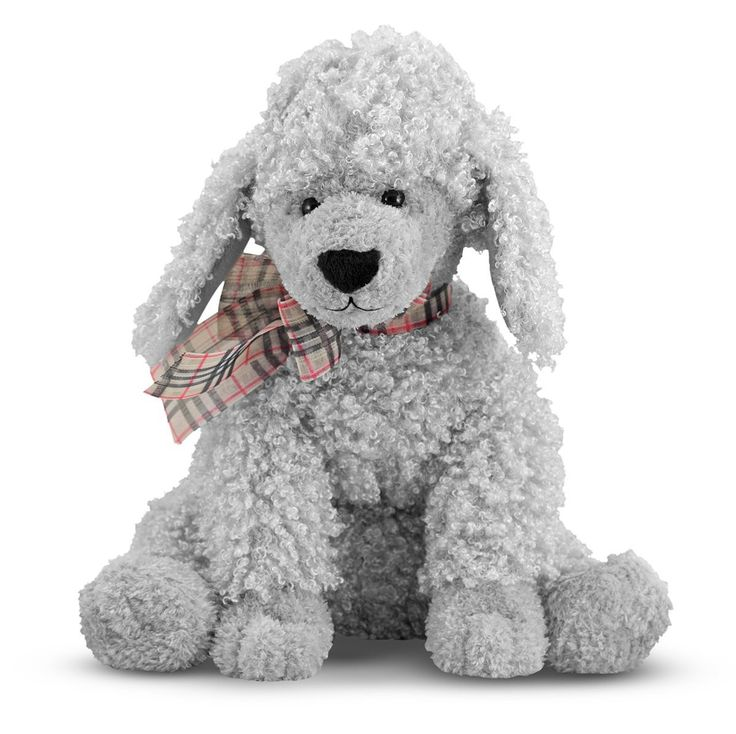 """- A """"Choice Breeds"""" stuffed animal from Melissa and Doug - Luxurious fabrics - Top-quality construction - Weighted bottom - Surface washable From the Manufacturer: Comforting Curley offers plenty to l"""
