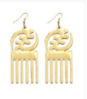 Afro Pick Earrings by TShirtsThatRock on Etsy, $9.99