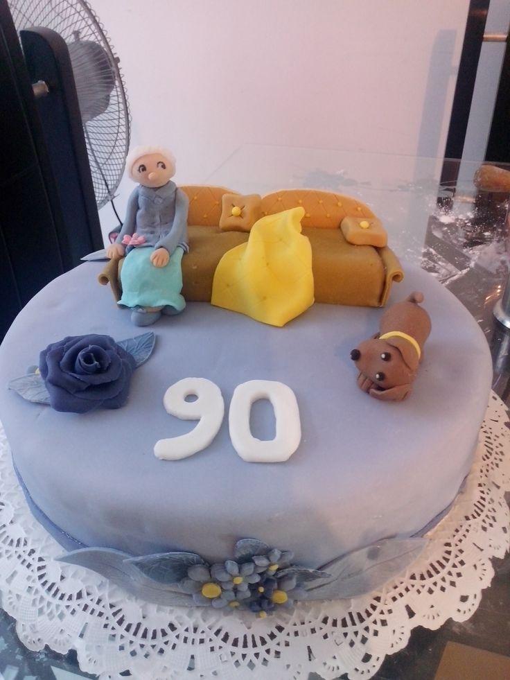 Torta para abuela de 90 a os tortas personalizadas la - Decoracion fiestas de cumpleanos ...