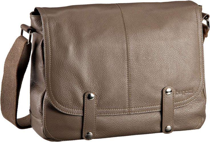 Bugatti Brisbane Messenger Bag Quer Medium Taupe - Umhängetasche