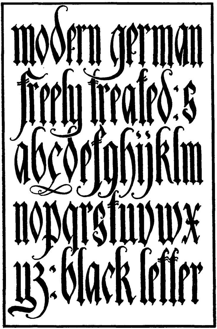 Best 25 German Font Ideas On Pinterest Gothic Fonts