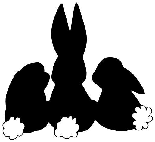 Free SVG File - Three Easter Bunnies Backs