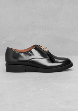 My favorite now - And Other Stories | Zip-up leather brogues | Black