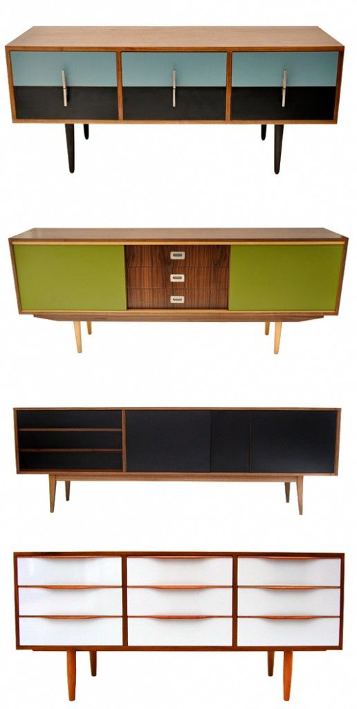 Retro Modern source and restore old unwanted mid century sideboards, buffets and tables and recreate them with their own twist into beautiful pieces of furniture again.