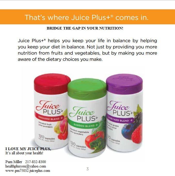 51 best Pam's JUICE PLUS...can't live without it! images ...