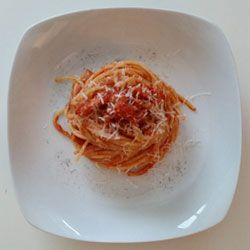 I vostri buonissimi #spaghetti con sugo alla #amatriciana ! Se li preparate con la mia #ricetta :-)