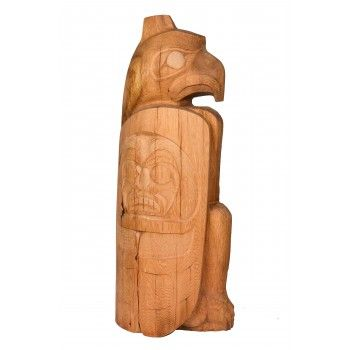 Eagle totem pole by Jay Coutts (Carrier, Cree).