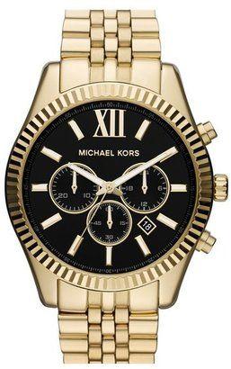 MICHAEL Michael Kors Michael Kors 'Large Lexington' Chronograph Bracelet Watch 45mm #watches #womens