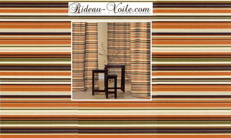 Rideau rayé rayures lignes horizontales curtain eyelets sripes drapes tenda vorhang fuggonï deco textile