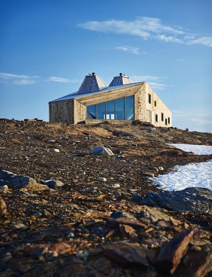 Rabot Tourist Cabin in Okstindan, Norway / by JVA (photo by Einar Aslaksen)