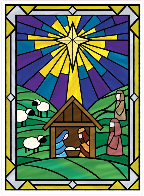stained glass Christmas - Google Search