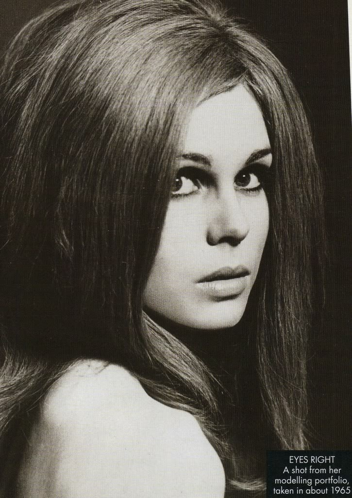 Joanna Lumley in Harpers Bazaar in 1965 . I love this shot. The hair is perfect. The make-up is flawless.