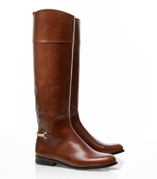 TB Jess Riding Boot, thankful for lack of ridiculous monograms everywhere. Love these- could not agree more about logos.