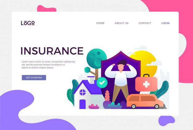 Insurance Landing Page Landing Page Graphic Editing Vector Free