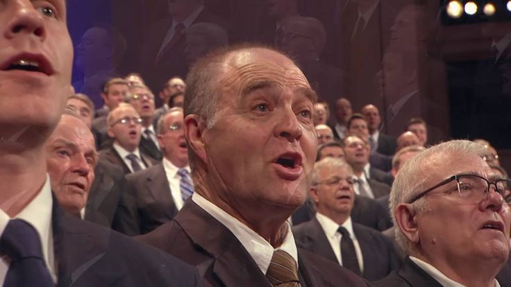 """A Melchizedek Priesthood Choir from stakes in Granger/Magna sings, """"Love at Home."""""""