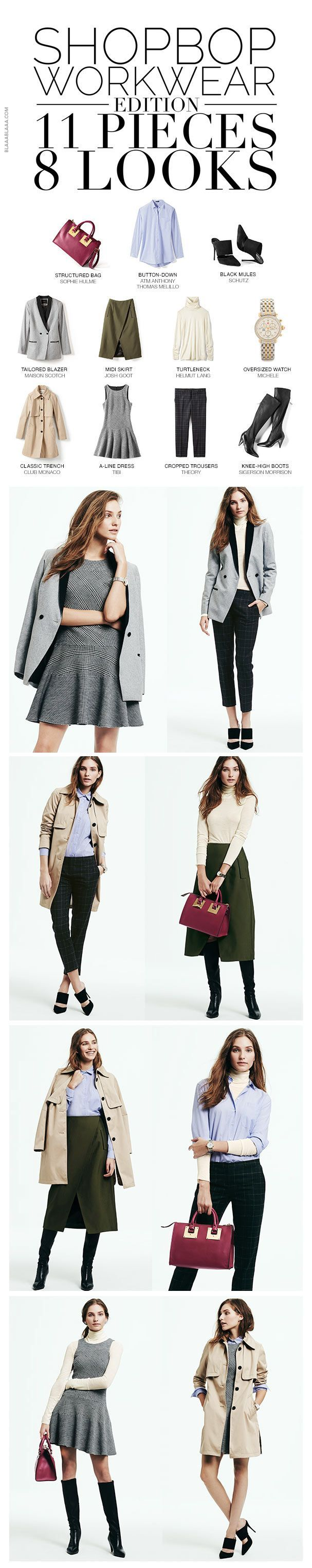 Shopbop Workwear Edition 11 Pieces – 8 Looks