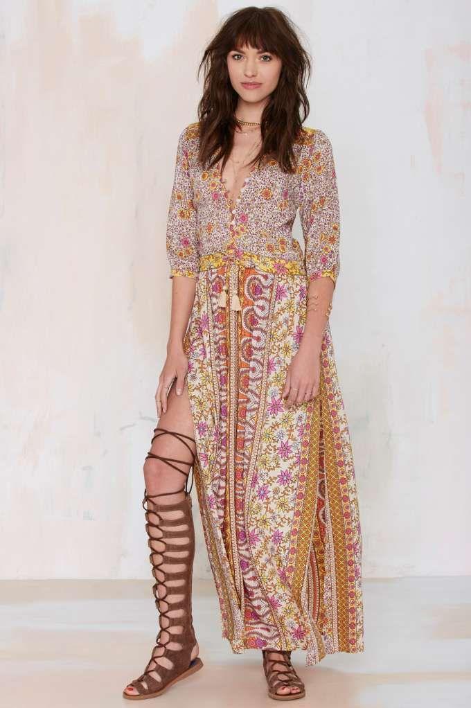 Spell Boho Blossom Maxi Dress - Orange | Shop Clothes at Nasty Gal!
