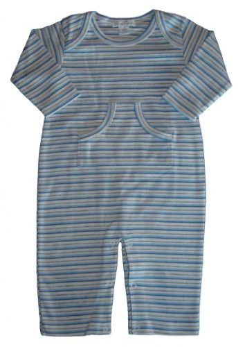 Kissy Kissy Baby Kissy Essentials Stripe Playsuit, Multi Stripe Blue, 3-6 Months