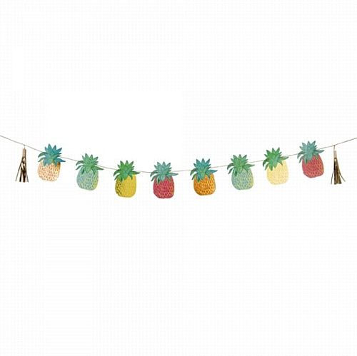Tropical Fiesta Pineapple Garland - 3m. Ideas for Brazilian Rio 2016 party to celebrate the Summer Olympic games in Rio 2016, Brazil. With Brazilian Rio themed party food, Olympic party decorations, Rio carnival style fancy dress and other Rio themed Olympic games inspiration.