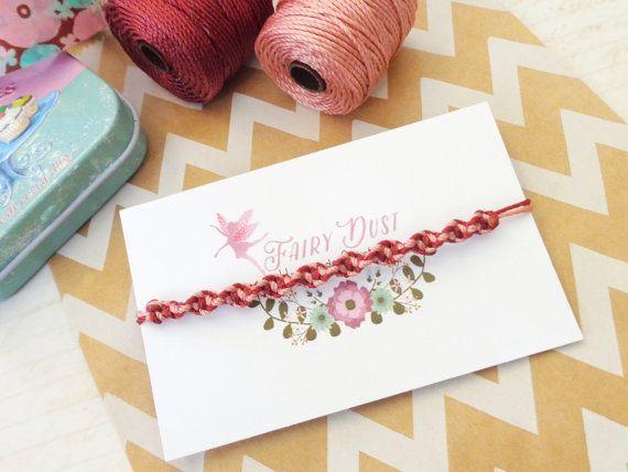 Best Friend Bracelet Friendship Bracelet Rose & by FairyDustHC