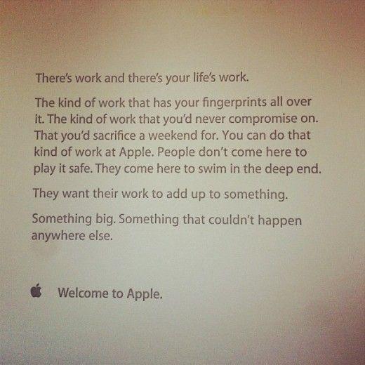 Appleが新入社員に初日に渡すメッセージ | SEO Japan