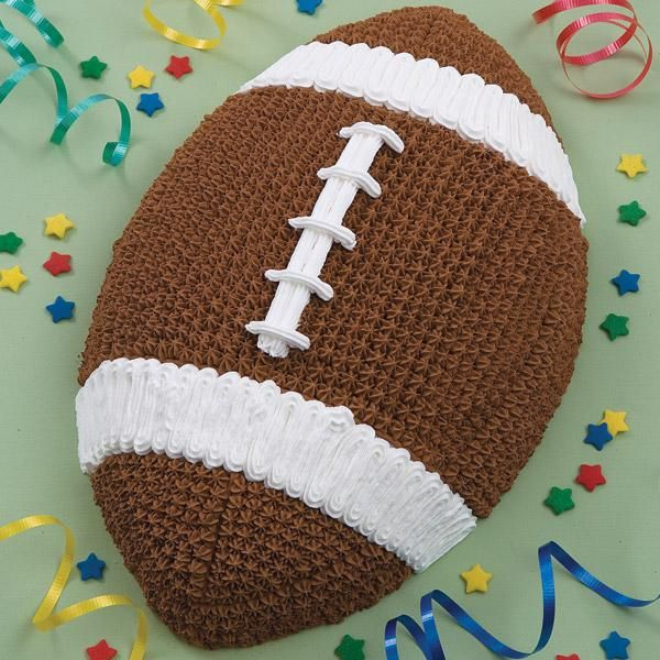 Game Ball Cake - This is one of the most rewarding and easiest cakes to tackle. First and  Ten pan makes desserts that are great for homecomings, the beginning of football season and even the big game.