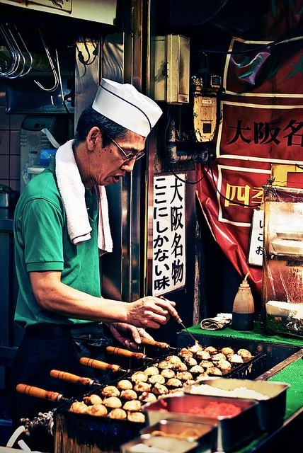 Day 12: Cross the Inland Sea to the food-lover's capital, Osaka. Spend your first evening walking the streets and sampling the local specialty, takoyaki (octopus fritters) www.boutiquejapan.com