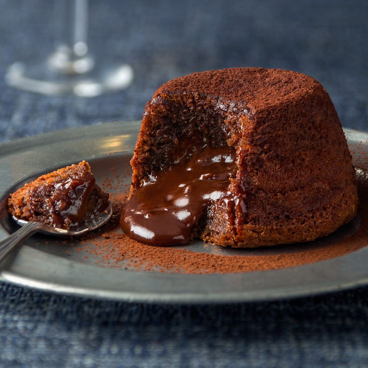 Delicious Haigh's Chocolate Fondants, made with Haigh's 70% Cocoa Dark Chocolate