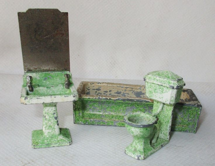 Rare Vintage Dinky Dolly Varden Dolls House Bathroom Furniture Meccano  Metal | EBay