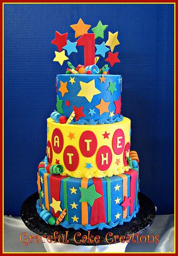 Whimsical 1st Birthday Cake with Stars and Stripes   KIDS CAKES   Pinterest   Cake, Birthday Cake and 1st birthday cakes