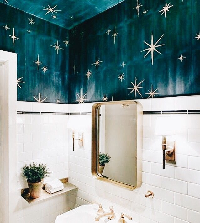 unique bathroom wallpaper #home #style (With images ...