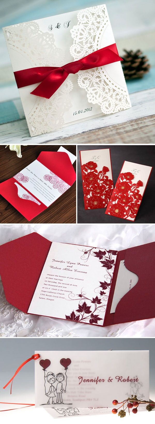 Beautiful Wedding Invitation Tissue Image Collection
