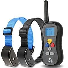 Dog Bark Collar / Dog Training Collars Anti Bark Waterproof 300M Remote Control Shock/Vibration for 2 Dogs