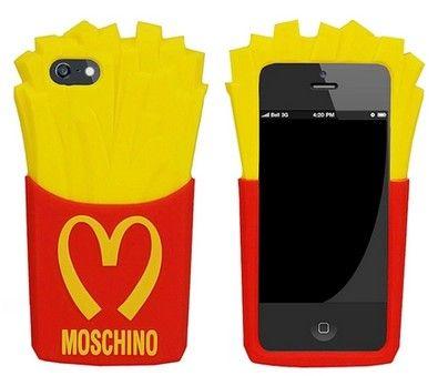 Nueve de silicona fundas iphone 5s MOSCHINO Mcdonald's chips carcasa estuche iphone 5 s
