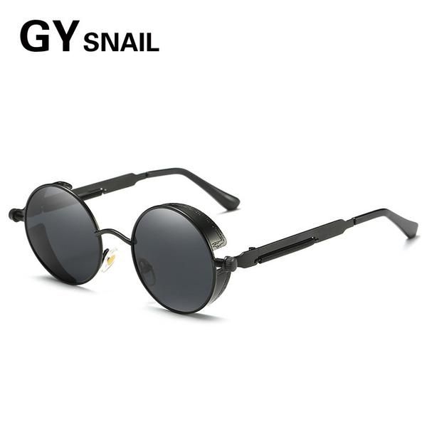 a1d7692a7b53 FuzWeb:GY SNAIL Polarized Steampunk Sunglasses Men Women Round Gothic Steam  Punk Goggles Metal Vintage Glasses sun Eyewears Travel
