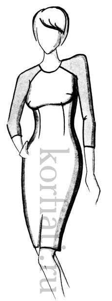 ШКОЛА ШИТЬЯ: Выкройка платья с рукавом реглан от Анастасии Корфиати