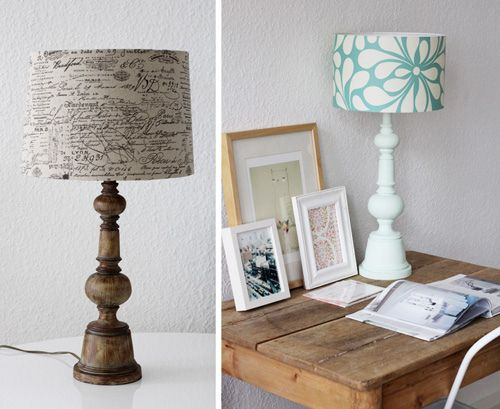 lamps: Pimp, Lighting, Decor8, Diy Lamps, Blue Lampshade, Lampshade Ideas, Spotlight